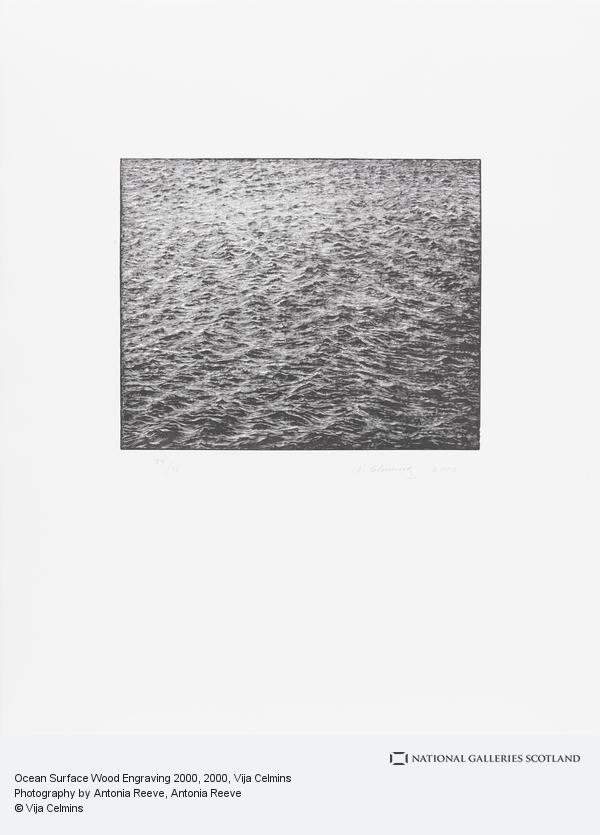 Vija Celmins, Ocean Surface Wood Engraving 2000