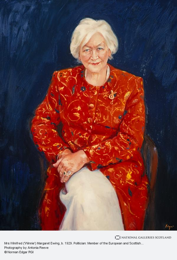 Norman Edgar, Mrs Winifred ('Winnie') Margaret Ewing, b. 1929. Politician: Member of the European and Scottish Parliaments (1999)