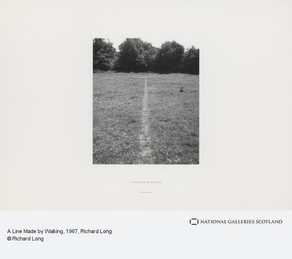 Richard Long, A Line Made by Walking (1967)