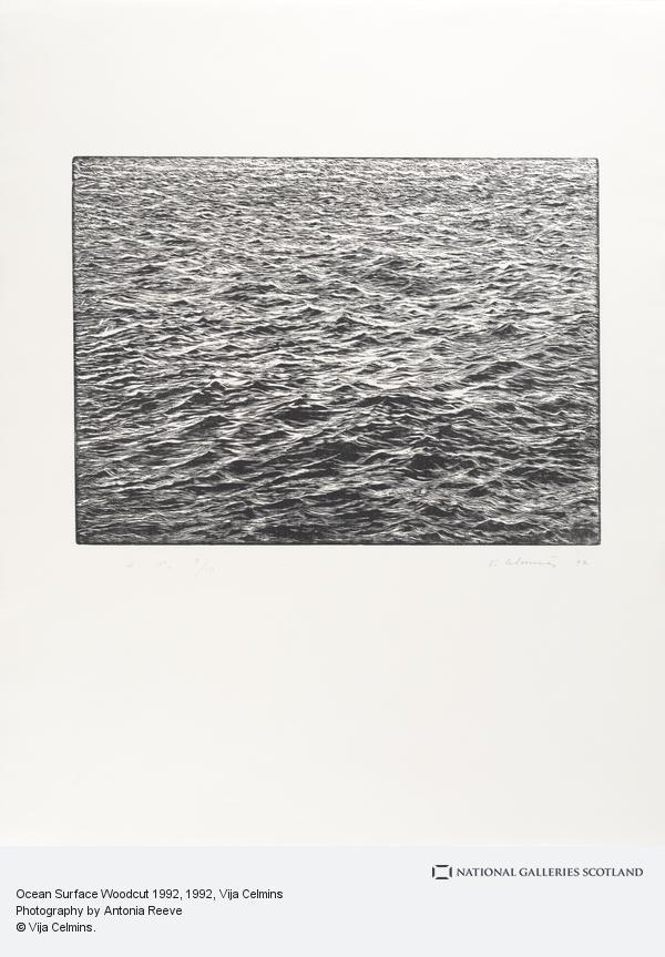 Vija Celmins, Ocean Surface Woodcut 1992