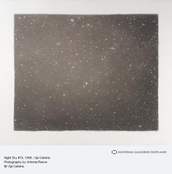 Vija Celmins, Night Sky # 19 (1998)