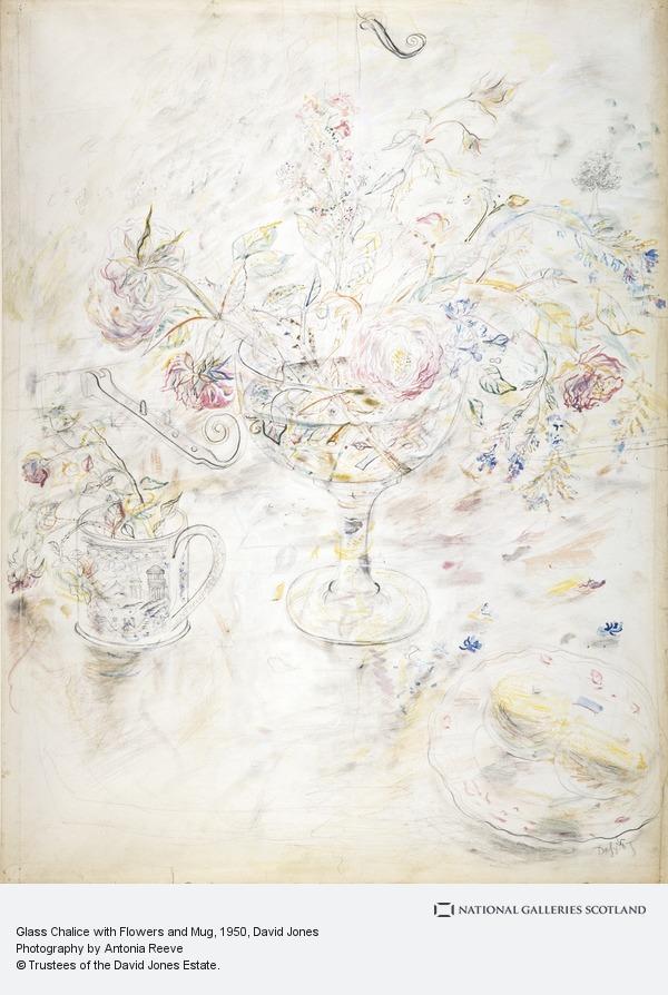 David Jones, Glass Chalice with Flowers and Mug