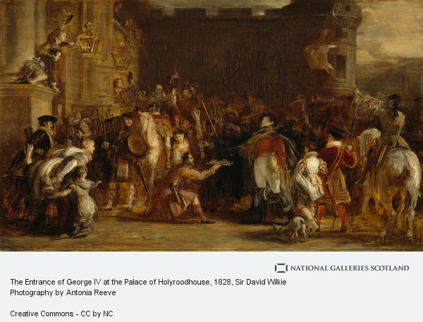 Sir David Wilkie, The Entrance of George IV at the Palace of Holyroodhouse (1828)