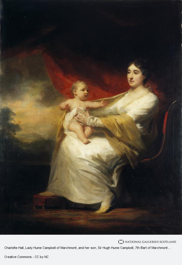 Sir Henry Raeburn, Charlotte Hall, Lady Hume Campbell of Marchmont, and her son, Sir Hugh Hume Campbell, 7th Bart of Marchmont (1812 - 1894) (About 1813)