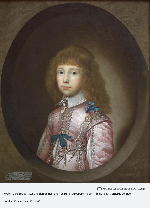 Cornelius Johnson, Robert, Lord Bruce, later 2nd Earl of Elgin and 1st Earl of Ailesbury (1626 - 1685) (1633)