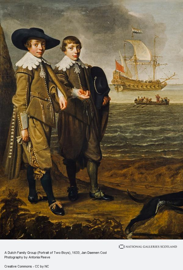 Jan Daemen Cool, A Dutch Family Group (Portrait of Two Boys)