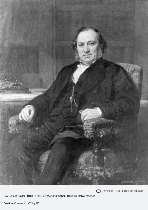 Sir Daniel Macnee, Rev. James Taylor, 1813 - 1892. Minister and author