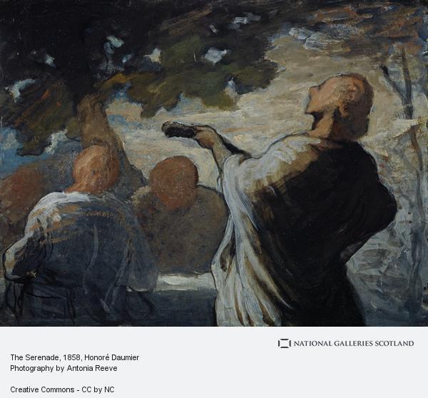 Honoré Daumier, The Serenade