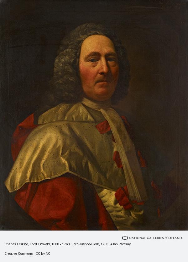 Allan Ramsay, Charles Erskine, Lord Tinwald, 1680 - 1763. Lord Justice-Clerk