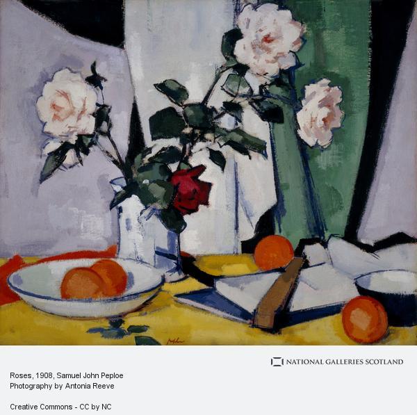 Samuel John Peploe, Roses (About 1920 - 1925 [verso about 1908])