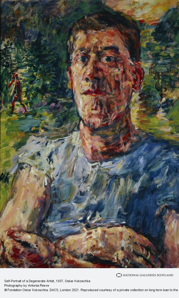 Oskar Kokoschka, Self-Portrait of a Degenerate Artist