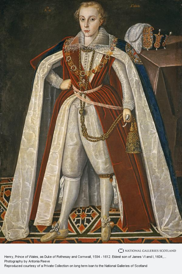 Sir Robert Peake, Henry, Prince of Wales, as Duke of Rothesay and Cornwall, 1594 - 1612. Eldest son of James VI and I