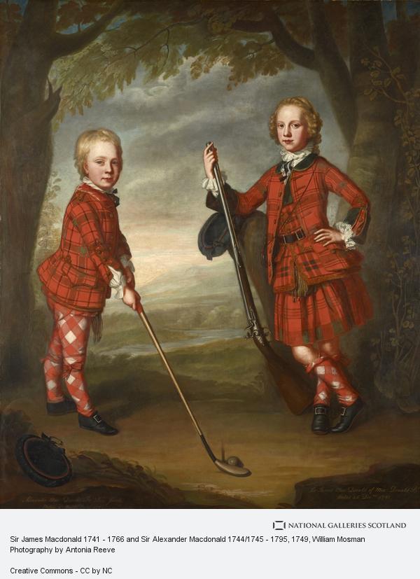 William Mosman, Sir James Macdonald 1741 - 1766 and Sir Alexander Macdonald 1744/1745 - 1795 (About 1749)