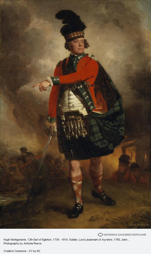 John Singleton Copley, Hugh Montgomerie, 12th Earl of Eglinton, 1739 - 1819. Soldier; Lord Lieutenant of Ayrshire (About 1780)
