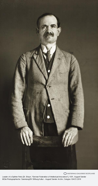 August Sander, Leader of a Splinter Party [Dr Braun, German Federation of Intellectual Innovators], 1931 (1931)