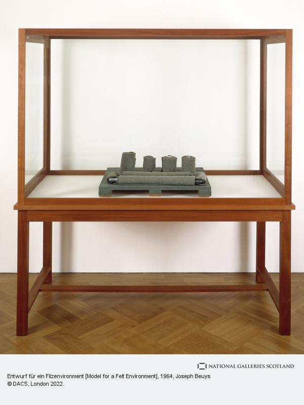 Joseph Beuys, Entwurf für ein Filzenvironment [Model for a Felt Environment] (1964)