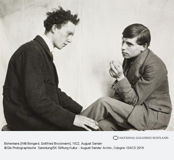 August Sander, Bohemians [Willi Bongard and Gottfried Brockmann], 1922-5 (1922 - 1925)