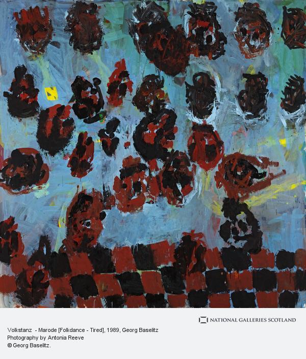 Georg Baselitz, Volkstanz  - Marode [Folkdance Melancholia] (1989)