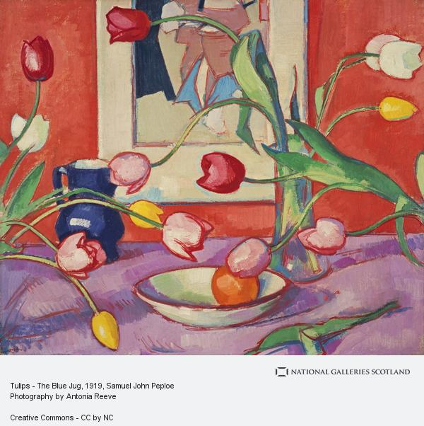 Samuel John Peploe, Tulips - The Blue Jug