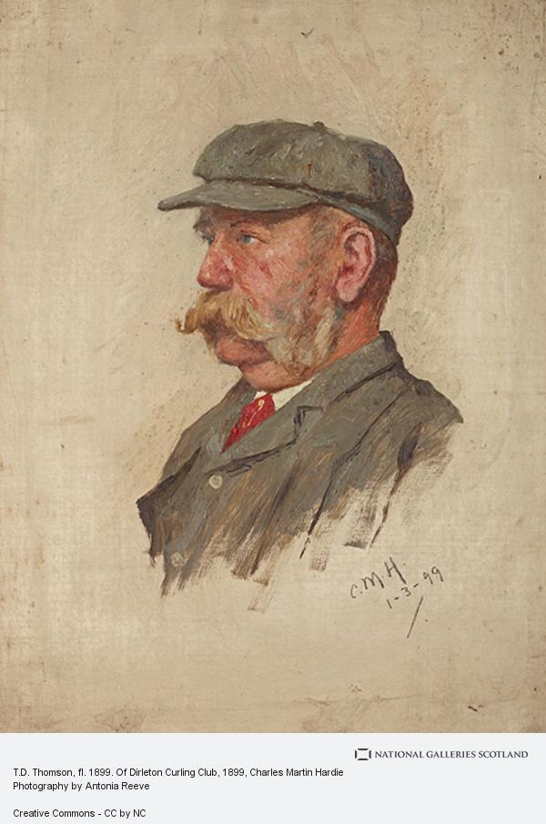 Charles Martin Hardie, T.D. Thomson, fl. 1899. Of Dirleton Curling Club