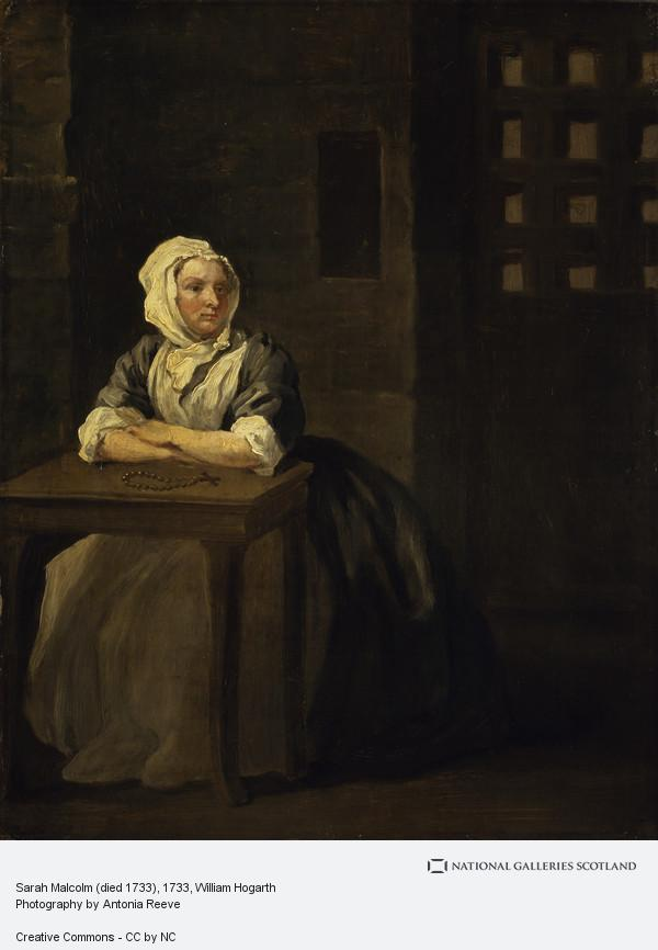 William Hogarth, Sarah Malcolm (died 1733)