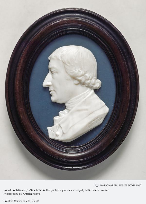 James Tassie, Rudolf Erich Raspe, 1737 - 1794. Author, antiquary and mineralogist
