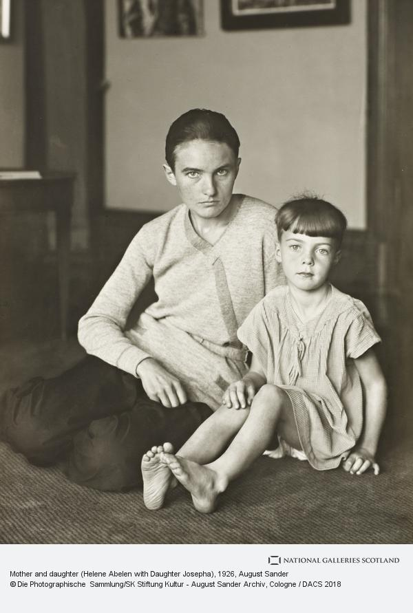 August Sander, Mother and daughter (Helene Abelen with Daughter Josepha) c.1926 (about 1926)