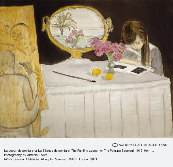 Henri Matisse, La Leçon de peinture or La Séance de peinture [The Painting Lesson or The Painting Session]
