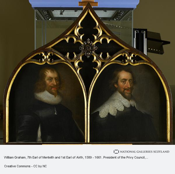 George Jamesone, William Graham, 7th Earl of Menteith and 1st Earl of Airth, 1589 - 1661. President of the Privy Council