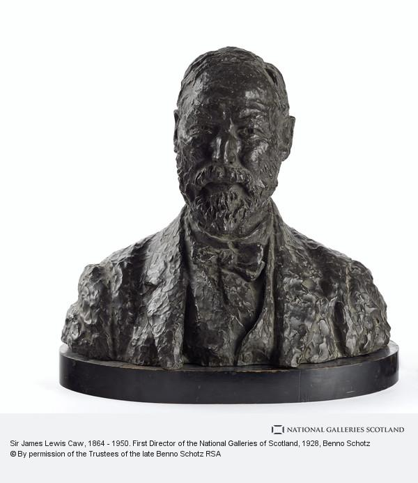 Benno Schotz, Sir James Lewis Caw, 1864 - 1950. First Director of the National Galleries of Scotland