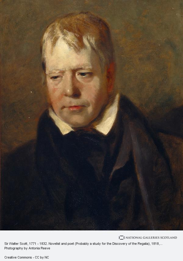 Andrew Geddes, Sir Walter Scott, 1771 - 1832. Novelist and poet (Probably a study for the Discovery of the Regalia)