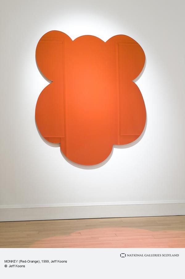 Jeff Koons, MONKEY (Red-Orange) (1999)