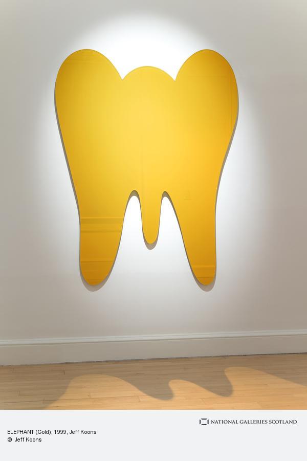 Jeff Koons, ELEPHANT (Gold) (1999)