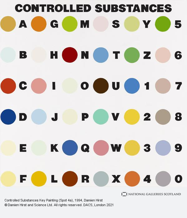 Damien Hirst, Controlled Substances Key Painting (Spot 4a)