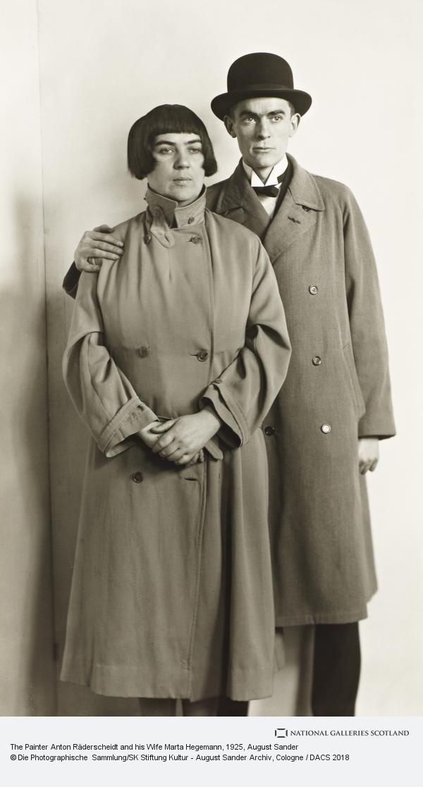 August Sander, The Painter Couple [Marta Hegemann and Anton Raderscheidt], about 1925 (about 1925)