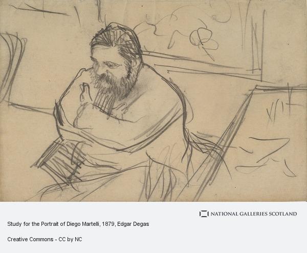 Hilaire-Germain-Edgar Degas, Study for the Portrait of Diego Martelli