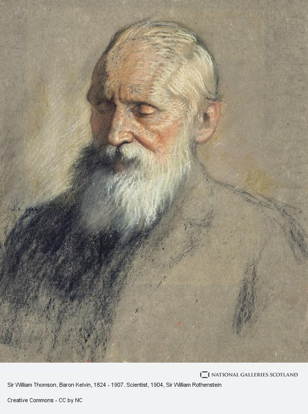 Sir William Rothenstein, Sir William Thomson, Baron Kelvin, 1824 - 1907. Scientist