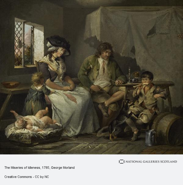 George Morland, The Miseries of Idleness