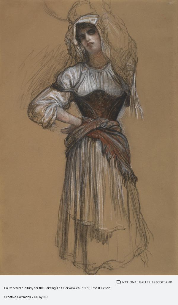Ernest Hebert, La Cervarolle. Study for the Painting 'Les Cervarolles'