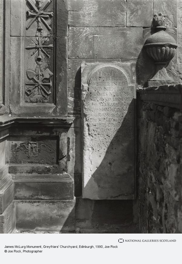 Joe Rock, James McLurg Monument, Greyfriars Churchyard, Edinburgh (1990)