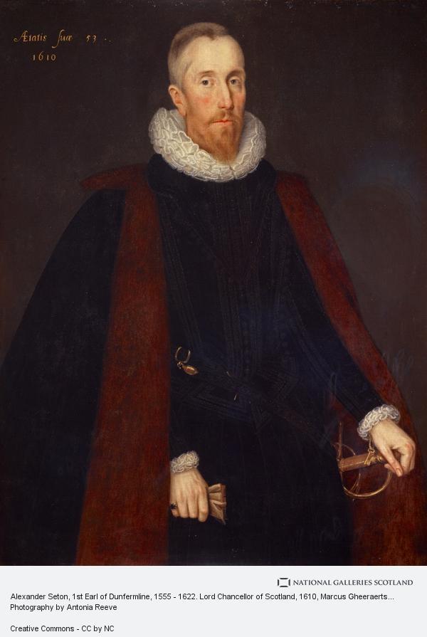 Marcus Gheeraerts, Alexander Seton, 1st Earl of Dunfermline, 1555 - 1622. Lord Chancellor of Scotland