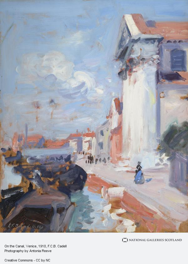 Francis Campbell Boileau Cadell, On the Canal, Venice