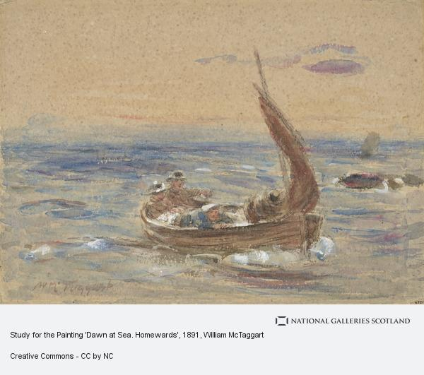 William McTaggart, Study for the Painting 'Dawn at Sea. Homewards'