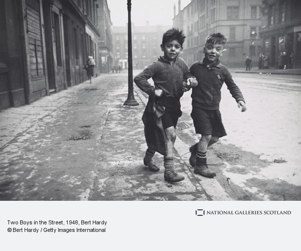 Bert Hardy, The Gorbals, Glasgow. Two Boys in the Street (1948 (printed in 1986))