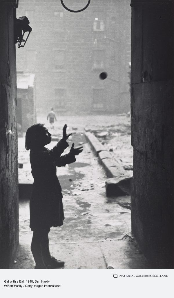 Bert Hardy, Glasgow Gorbals for the 'Picture Post' (3 of 9): Girl with a Ball