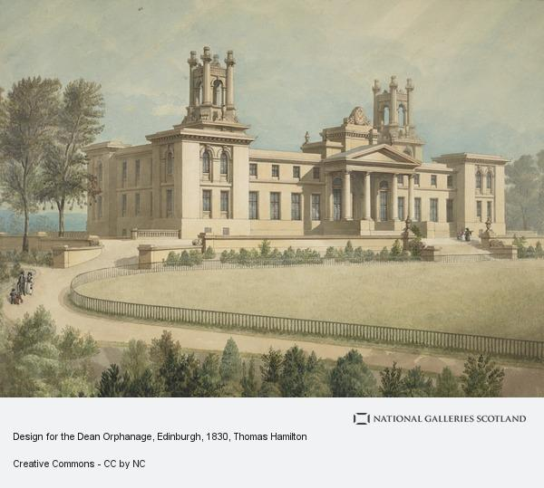 Thomas Hamilton, Design for the Dean Orphanage, Edinburgh (About 1830)