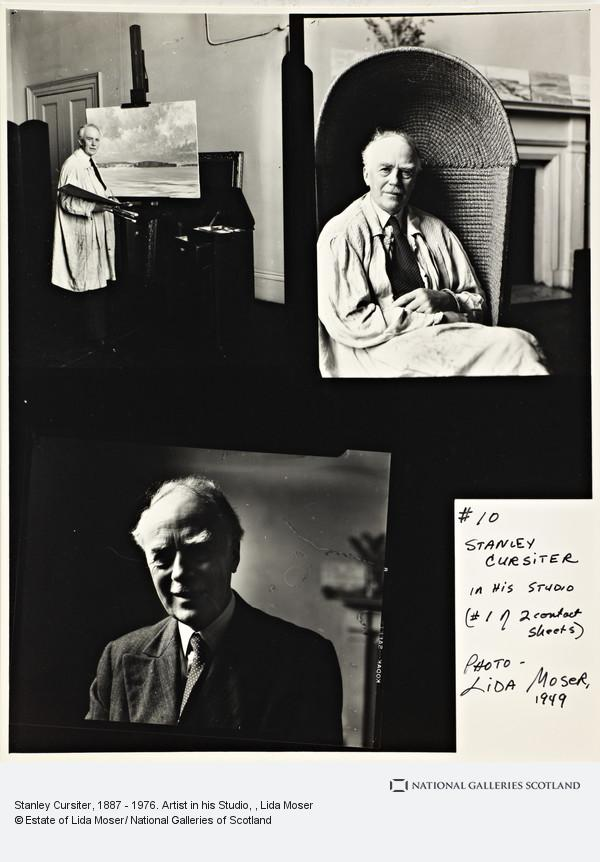 Lida Moser, Stanley Cursiter, 1887 - 1976. Artist in his Studio