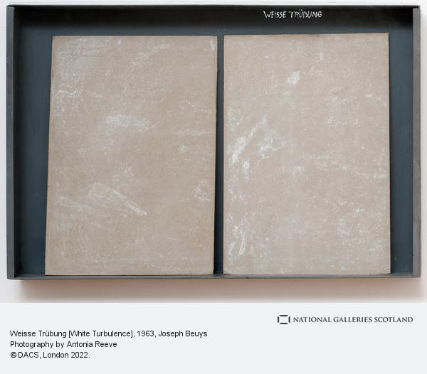 Joseph Beuys, Weisse Trübung [White Turbulence] (1963)