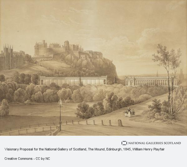 William Henry Playfair, Visionary Proposal for the National Gallery of Scotland, The Mound, Edinburgh