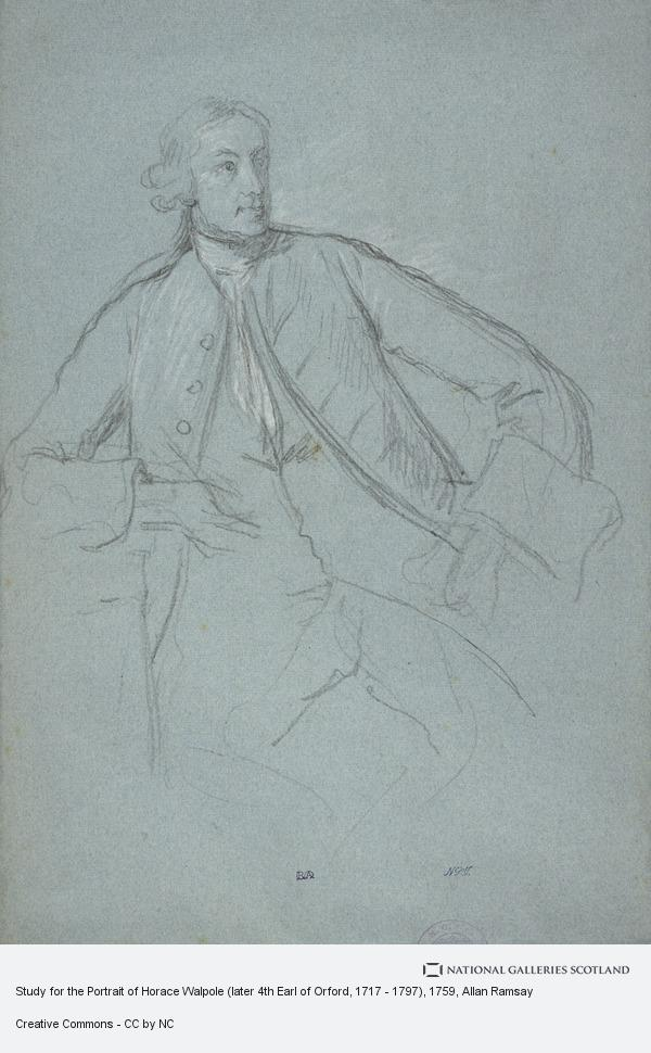 Allan Ramsay, Study for the Portrait of Horace Walpole (later 4th Earl of Orford, 1717 - 1797) (About 1759)
